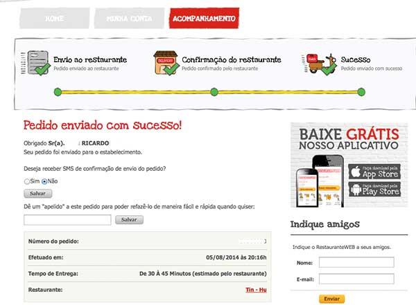 pedidoenviado_restauranteweb