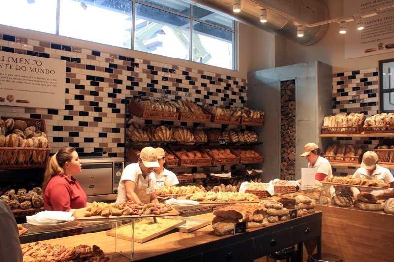 La Paneteria é a padaria do Eataly, produzindo diariamente os pães com fermentação natural, foccacias napolitanas e outras opções para almoços ou lanches.